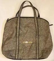 Victoria's Secret Tote Weekender Bag Black Glamour Glitter Gold Sparkle Carry On - $24.99