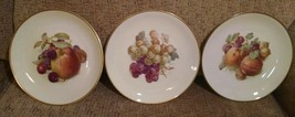 3 ESCHENBACH BARONET CHINA FRUIT PLATES Bavaria, Germany - Grapes Apple d83 - $18.37