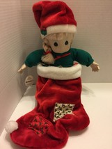 "Precious Moments Christmas Doll ""Nikki"" 1995 QVC, 22"" Tall With Original... - $8.59"