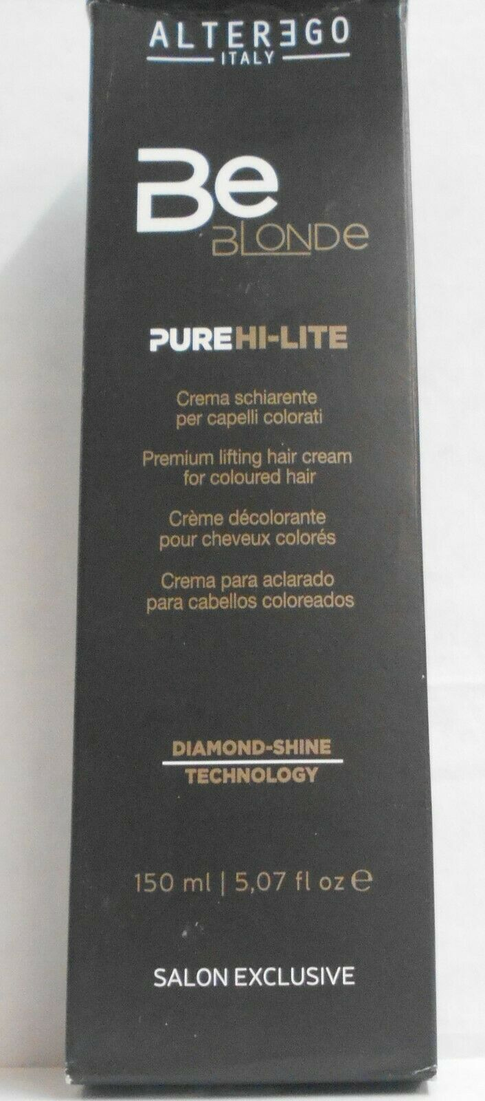Primary image for Alter Ego Italy BE BLONDE PURE HI-LITE Permanent Hair Color Cream ~ 5.07 oz