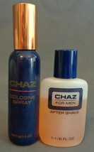 Mans Fragrance Vintage Revlon CHAZ 1 Oz Cologne Spray & 1 1/8 After Shave Splash - $24.99