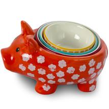 Urban Market Life on the Farm 4 Piece Durastone Figural Pig Measuring Cu... - $34.73