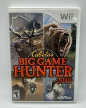 Nintendo Wii Cabelas Big Game Hunter 2010 Shooter Complete w/ Manual - $9.98