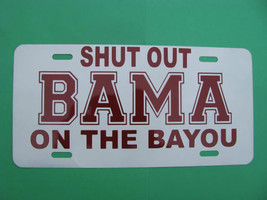 License Plate, Shut Out on The Bayou BAMA, Alum... - $9.80