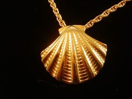 Sarah Coventry Gold Tone Sea Shell Necklace 0101201 - $57.40