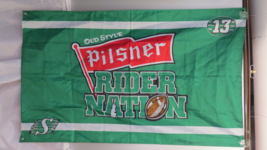 Saskatchewan Roughrider/Old Style Pilsner Flag - Rider Nation Version - ... - $45.00