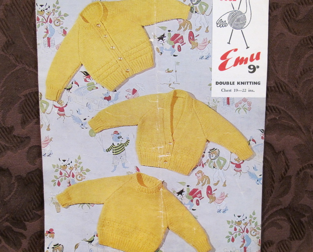 Vintage Knitting Patterns BABY Babies SWEATERS CARDIGANS PULLOVERS - $3.55