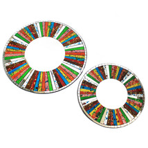 SET OF 2 HANDCRAFTED MOSAIC MIRRORS (40 CM) TWO DIFFERENT SHAPES AVAILABLE - $57.87