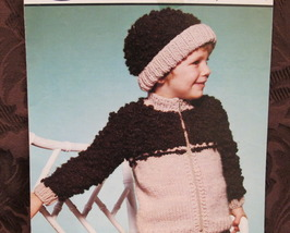 Vintage Sirdar Knitting Pattern CHILDRENS Sweater JACKET and HAT 20 - 26 chest  - $5.95