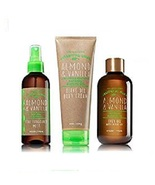 3 Pc Bath & Body Works Almond Vanilla Essential Oils Set - Cream, Mist a... - $30.99
