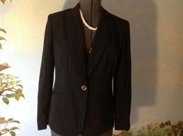 Jones New York Black Stripped Long Sleeve Suit Blazer Size 8 - $35.64