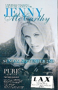 Jenny McCarthy at Pure Nightclub Las Vegas Promo Card