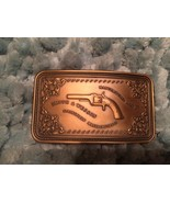 "SMITH AND WESSON BRASS 1980 ""PISTOL CASE"" BELT BUCKLE - NIB - CoLLECTIBLE - $22.00"