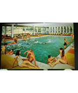 NYS65 Swimming Pool Kutshner's Country Club NY Chrome Postcard Posted 19... - $4.00