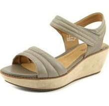 Clarks Grey Hazelle Elba Open Toe Wedge Comfort Sandals Women Size 8 - $26.13