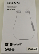 Sony WI-C300 Wireless NFC Bluetooth In-Ear Earbuds C300 Headphones  White - $20.54