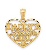 14K Yellow Gold D/C Daddys Little Girl Heart Pendant (Length=20) (Width=... - $71.70