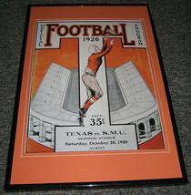 1926 Texas vs SMU Football Framed 10x14 Poster Official Repro - $46.39