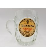 Guinness Beer Mug Extra Stout St. James Gate Dublin Souveir Clear Facete... - $29.99
