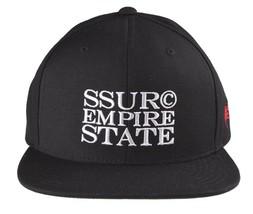 SSUR Empire State Lux Black New York NYC logo Baseball Snapback Hat NWT