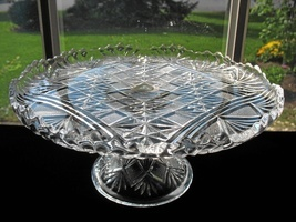 Antique EAPG McKee Cake Stand - Teutonic - $38.00