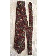 Metropolitan Museum Of Art Tie Chinese Warrior Silk Burgundy Necktie 56.... - $9.95