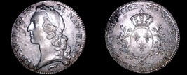 1762-R French Ecu World Silver Coin - France - Orleans - Louis XV - $599.99