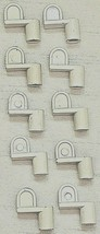 """3/8"""" Window Clips Screen Sunscreen Metal Diecast Die Cast White Pack of ... - $9.96"""