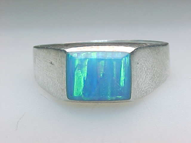 OPAL Vintage RING in Sterling Silver - Size 9 image 1