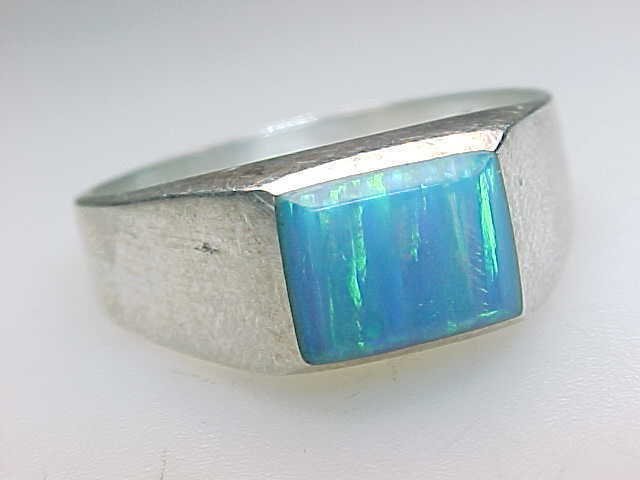 OPAL Vintage RING in Sterling Silver - Size 9 image 2