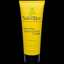 The Naked Bee Citron & Honey Hand & Body Lotion 6.7 oz Large Size New - $10.81