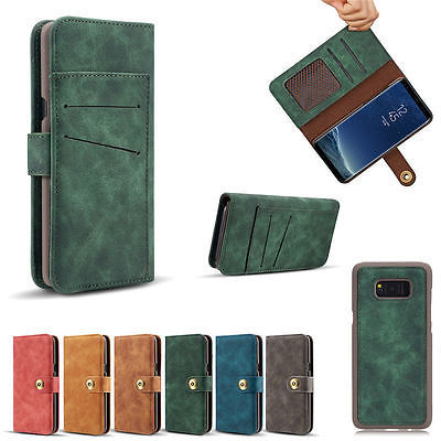 2in1 Magnetic Leather Wallet Case Card Slot Cover for Samsung Galaxy S7 S7 Edge