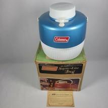 Vintage Coleman 1 Gallon Snow-Lite Jug #5501B703 w/ Box & Paper Blue - $45.99