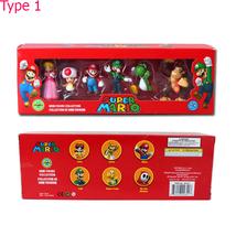 Super Mario Bros Luigi Figurines Set Figure Cartoon Set Child Toy Kids G... - $23.00