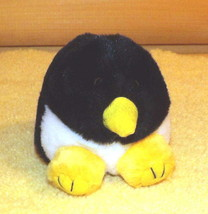 "Puffkins Plush 5"" TUX Black & White Penguin with Yellow Accents - $4.44"