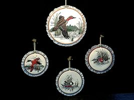 4 hanging embroidery images of ducks.AA19-1454 Vintage image 6