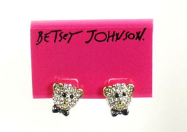 BETSEY JOHNSON DAY AT THE ZOO BEAR STUD EARRINGS NWT - $17.42