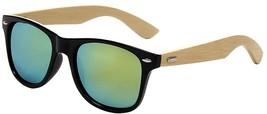 Shiratori Prevent Radiation Classic Bamboo Wood Sunglasses Gold - $20.18