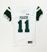 Under Armour Mason Game Football Jersey Youth Boy's M White Green #11 Bu... - $25.73