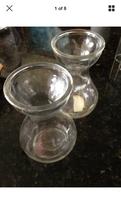"Set of 2: Designed with Beauty Shapely Glass Vase 6"" - $24.99"