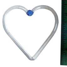 3.5 inch Glass Heart Decoration image 2