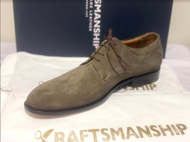 Handmade Men's Brown Suede Dress/Formal Lace Up Oxford Shoes image 5