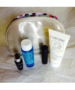 Lancome Sugared Maple Lipstick, BiFacil,Genifique,Cleanser Makeup Bag Lo... - $23.99