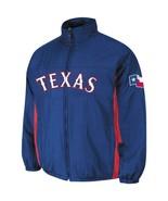 Men's Royal Blue Texas Rangers Double Climate On-Field Full Zip Jacket N... - $60.16