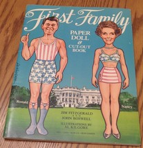 Vintage First Family Paper Doll & Cut-Out Book - Ronald & Nancy Reagan  ... - $19.79