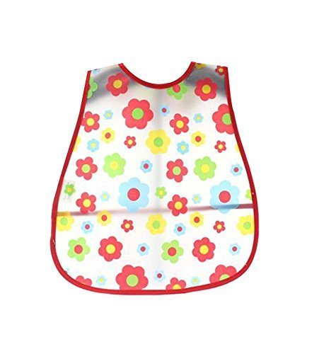 Set Of 2 Lovely Waterproof Comfortable Baby Bib/Pinafore For Baby,Bright Flower