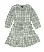 Gap Kids Gray & White Check Size XL (12) Shirt Dress Girls Kids Button P... - $19.80