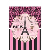Day In Paris Plastic Tablecover 54 x 102 Birthday Party - $7.99