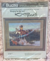 Bucilla Stitchery Kit Cm Russell Bringing Up The Trail Sid Richardson Museum - $34.64