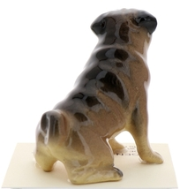 Hagen-Renaker Miniature Ceramic Dog Figurine Pug Fawn Mama Sitting and  Baby Pup image 11